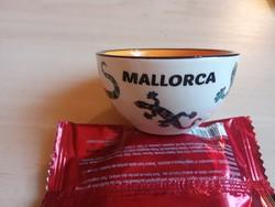 Mallorca felíratú dísz tálka,7 cm átmérőjű.Új