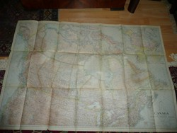 Antik nagy méretű KANADA  térkép 1936 - NG Washington  Mérete: 102*70 cm