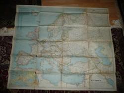 Antik nagy méretű EURÓPA térkép 1938 - NG Washington  Mérete: 100*85 cm
