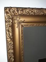 Kép vagy  tükör keret masnis díszítéssel falc: 43 x 54 cm