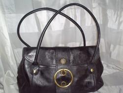 Fekete eredeti bőr táska