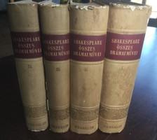 Shakespeare összes drámai művei I.-IV. Kötet.