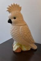 Retro sütitartó papagáj, kakadú 30 cm