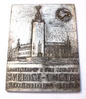 Svéd-Magyar atlétikai érem,Stockholm, 1960. 800 méter II.díj.