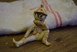 Retro műanyag bohóc figura