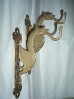 Vintage réz sárkányt formázó falikar párban