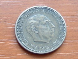 SPANYOL 1 PESETA 1953 #