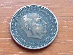 SPANYOL 1 PESETA 1947 #