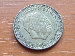 SPANYOL 1 PESETA 1963 #