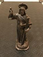 Antik patinás ezüst szobor .800as 129gr!!