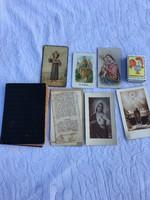 Páduai Szent Antal - P. Özséb  kis imakönyve imakönyv imádságos könyve + emléklap, szentkép, kegykép