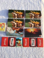 12 darab Mini Retro reklám gyufa gyufásdoboz - Marlboro - West
