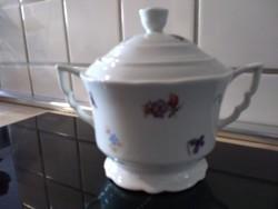Pajzs pecsétes Zsolnay porcelán cukortartó