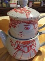 Egyszemélyes teás kanna kancsó csésze
