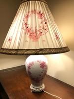 Herendi indiai kosár mintás asztali lámpa, nagyméretű