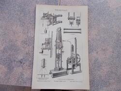 Litografie Meyers,1904, Gepek