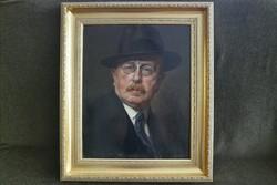 Karlovszky Bertalan (1858-1938): Fényes Adolf portréja a 60. születésnapján !!!