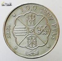Ezüst  100 Pezeta aUNC 1933