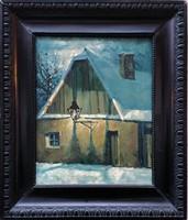 Kóbor Henrik : Tabán 1930 c. Festmény Eredeti Garanciával