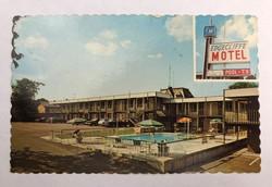 Régi képeslap Canada Ontario Motel Medencével a niagaránál  Pub. James Studio  /KL004/