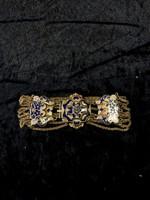 Antik Bieder meier arany karkotő