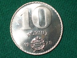 10 Forint 1978 ! Csak 50005 db. ! Nem Volt Forgalomban ! Verdefényes !
