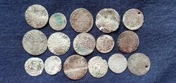 Középkori Ezüst lott 16 drb