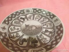 Kinai horoszkopos falra akasztható tányér  A017