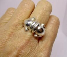 Gyönyörű nagy ezüst gyűrű
