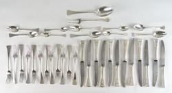 0S999 Angol fazon ezüst evőeszköz készlet 36 darab