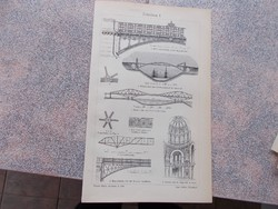 Litografie Meyers,1904, Eisenbau