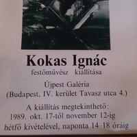 Kokas Ignác festőművész kiállításának plakátja