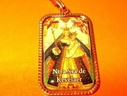 Szűz Mária Jelenése Csodatévő festménye zarándoklat töltött  Arany GF. Medál 2.