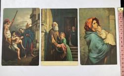 3db Vallás jellegű kép Herzog Jenő kézírásával 1917-ből   /KL017/
