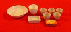 Régi porcelán patika edények, gyógyszertári edények, patika eszközök, gyógyszertári eszközök