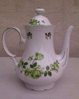 Mitterteich zöld rózsás porcelán kávéskanna