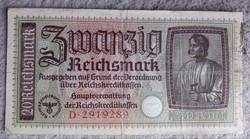 III.Birodalom 20 márka bankjegy