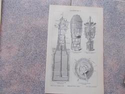 Litografie Meyers,1904,  Leuchttürme