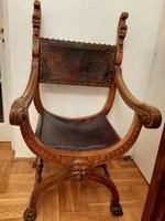 Neóreneszánsz karfás szék