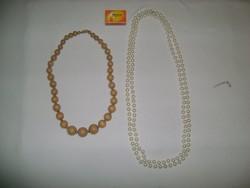 Retro gyöngysor - két darab