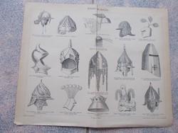 Litografie Meyers,1904, Sisak-alakok