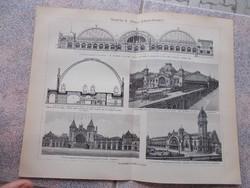 Litografie Meyers,1904, Banhof