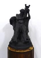 0S696 Róna József: Bacchus gipsz szobor talapzaton