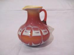 Üveg kancsó rétegelt üveg 18cm dísz kancsó váza opál üveg