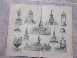 Litografie Meyers,1904, Brunnen