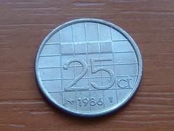 HOLLAND 25 CENT 1986