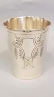 Gyönyörű szép antik ezüst keresztelő pohár ,kupa