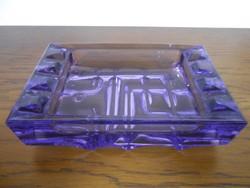 Hamutartó hamutál üveg cseh lila 14*9*3,5 cm