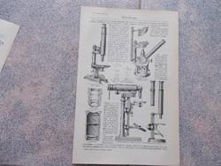 Litografie Meyers,1904, Gepek,Mikroskope