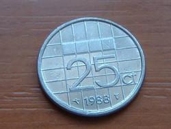 HOLLAND 25 CENT 1988